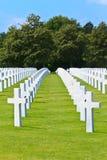 American War Cemetery. Near Omaha Beach, Normandy (Colleville-sur-Mer Royalty Free Stock Photos