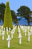 American War Cemetery. Near Omaha Beach, Normandy (Colleville-sur-Mer Stock Photo