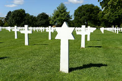 American war cemetery in France Royalty Free Stock Photo