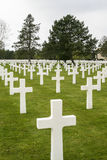 American War Cemetery and Memorial, Colleville-sur-Mer, France Royalty Free Stock Photography