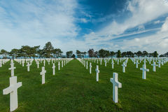 American War Cemetery near Omaha Beach, Normandy Colleville Royalty Free Stock Photos