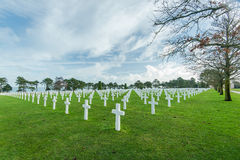 American War Cemetery near Omaha Beach, Normandy Colleville Royalty Free Stock Images