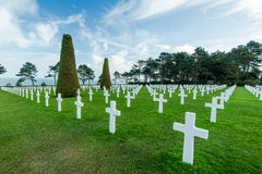 American War Cemetery near Omaha Beach, Normandy Colleville Stock Photography