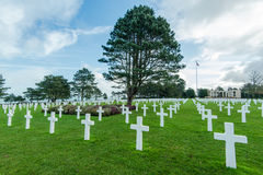 American War Cemetery near Omaha Beach, Normandy Colleville Royalty Free Stock Image