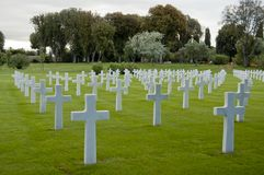 American war cemetery in Nettuno. The American war cemetery in Nettuno contains 7.862 white headstones, corresponding to the U.S. soldiers dead (including women royalty free stock photo