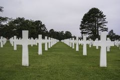 American war cemetery in Normandy stock photos