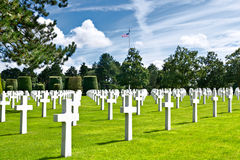 American War Cemetery at Omaha. Beach, Normandy (Colleville-sur-Mer Stock Image