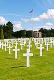 American War Cemetery at Omaha Beach Stock Photography