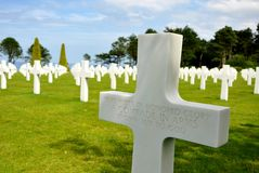 American War Cemetery at Omaha Beach Royalty Free Stock Photography