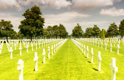 American War Cemetery at Omaha Beach, Normandy (Colleville-sur-M Royalty Free Stock Photography