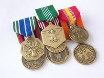 American War Hero. These are US Army Medals associated with the war on terror Stock Photography