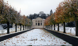 American war heroes. American cemetery near Paris, France (Suresnes). This cemetery is divided betwwen first war (on one side) and second war soldiers Royalty Free Stock Photography