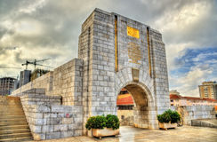 American War Memorial in Gibraltar. Built in 1933 and incorporated into the main city wall. Stock Photo