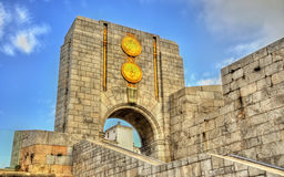American War Memorial in Gibraltar. Built in 1933 and incorporated into the main city wall. Royalty Free Stock Photos