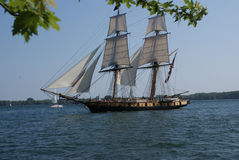 American War of 1812 replica sailing ship in Toronto by Peter J. Restivo. Royalty Free Stock Images