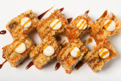 American warm crunch roll sushi. Royalty Free Stock Photo