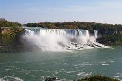 American waterfall. Niagara falls on the american side during fall Royalty Free Stock Photos