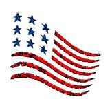 American wave flag grunge Independence Day symbol Stock Photos