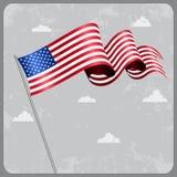 American wavy flag. Vector illustration. American flag wavy abstract background. Vector illustration Stock Photo
