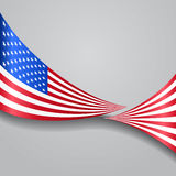 American wavy flag. Vector illustration. American flag wavy abstract background. Vector illustration Royalty Free Stock Image