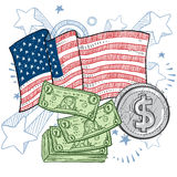 American wealth and money vector Royalty Free Stock Photo