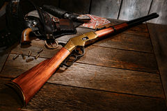 American Western Legend Vintage Rifle and Old Guns Royalty Free Stock Image