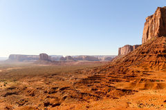 American West. Part of the rock formation Mitchell Mesa in Monument Valley Stock Photography