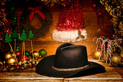 American West Rodeo Cowboy Hat for Christmas Card Stock Photography