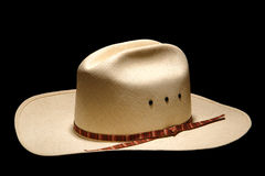 American West Rodeo Cowboy Hat Isolated on Black Royalty Free Stock Photography
