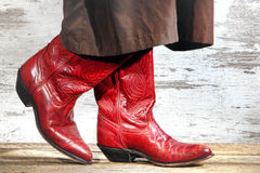 American West Rodeo Cowgirl Boots Two Step Dancing stock photo
