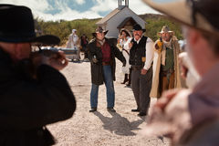 American West Shoot Out Stock Photography