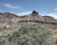 American western butte, Sheep Rock, Oregon Royalty Free Stock Photography