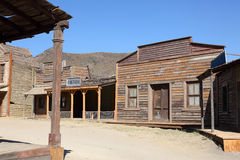 American western style town. An old American western style town Royalty Free Stock Photography