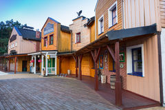 American wild west architecture of Western hotel near Bydgoszcz Stock Images