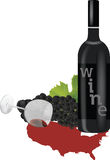 American wine Royalty Free Stock Images