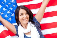 American Woman Royalty Free Stock Photos