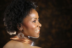 American Woman With Dramatic Lighting Stock Images