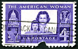 The American Woman US Postage Stamp Royalty Free Stock Photo
