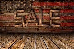 American Wood Sale Royalty Free Stock Photo