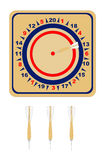 American Wooden Dartboard Stock Photography