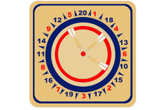American Wooden Dartboard Royalty Free Stock Image