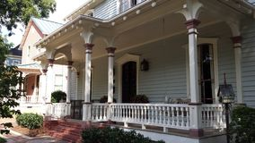 American wooden house. And terrace Royalty Free Stock Photos