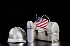 American Worker. Royalty Free Stock Photo