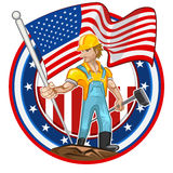 American Worker Labor Day vector illustration
