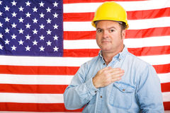 American Worker Pledge Stock Photos