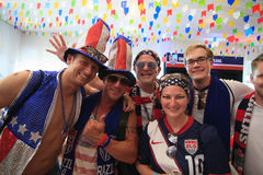 American World Cup Fans gather before a match. Royalty Free Stock Photography