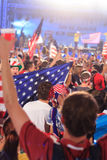 American World Cup Fans gather to watch the USA vs Ghana match. Royalty Free Stock Photo