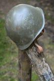 American World War Two Helmet. A discarded American World War Two helmet Royalty Free Stock Images