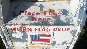 American worn flag drop Royalty Free Stock Photography