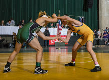 American Wrestlers. Wrestlers in competition at the Northern California Championships in Redding, California Stock Images